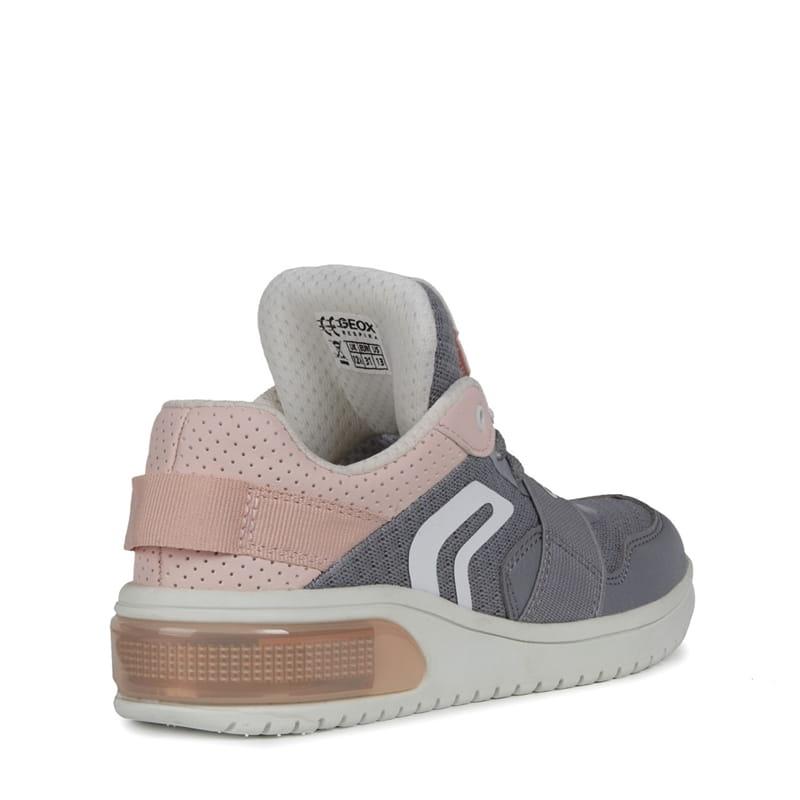 483f82c1e6dcff Geox buty dziecięce Junior XLED Girl szary róż - KokoLeti