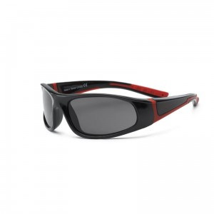 Okulary Real Kids Bolt 4+ black and red