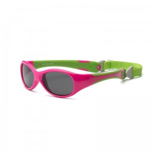 Okulary Real Kids Explorer 4+ cherry pink and lime