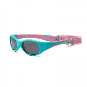 Okulary Real Kids Explorer 0+ aqua and pink