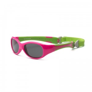Okulary Real Kids Explorer 0+ cherry pink and lime