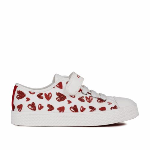 Geox buty dziecięce Junior Ciak Girl serca